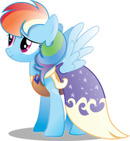 Rainbow Dash in Gala Dress (With Shading) by InfiniteWarlock