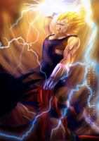 The Last Saiyan Alive (Collab with xevozzez) by LaceWingedSaby