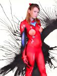 Asuka body paint cosplay by editingninja