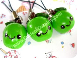Green apple charms by The-Cute-Storm