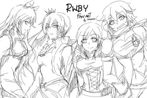 RWBY - Fan Art by kimdakim