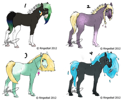 Foals(2/4 left) by AerithsAdopts
