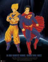 Goku and Superman - Promo Art by Gourmandhast