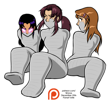 Dec 2016 - 3rd Place - Mummy Trio by WossaRem