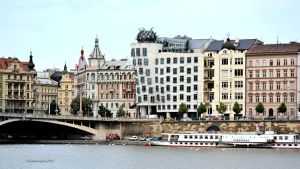 Prague waterfront - a house in the middle dancing by SvitakovaEva