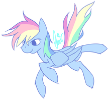 Rainbow Dash doodle by ClairClairSky