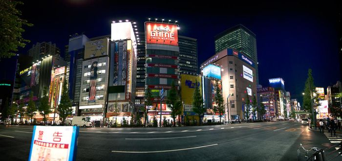 Akiba at night by andrewhitc