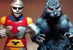 Godzilla and Jet Jaguar posing in my kitchen by NormanWong