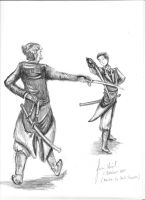 Alek and Volger: Fencing practice by anijess3