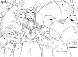 Sketch of bedtime stories by Ceshira