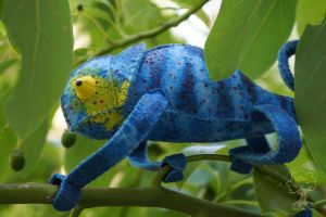 Custom Painted Chameleon 7 by quirkandbramble