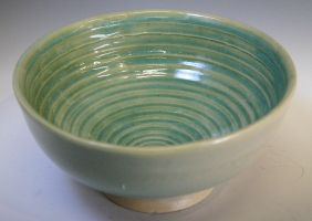 Green Porcelain Bowl by ghostgray