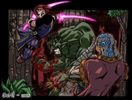 Psionics Vs Troll Color by thyagon