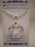 Swarovski Seashell Crystal Necklace by beadclass