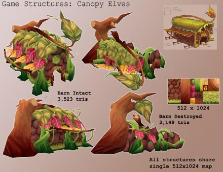 Game Model - Canopy Elf Barn by gronch
