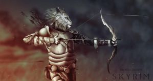 the elder scrolls v skyrim. Khajiit by zakevgeniy