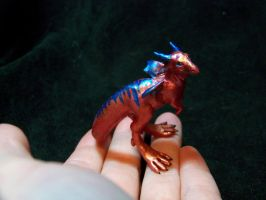 tiny red dragon by AmandaKathryn