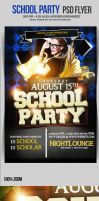 School Party Flyer Template by ImperialFlyers