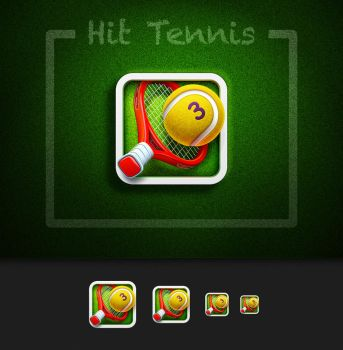 Hit Tennis 3 App Icon by Ramotion