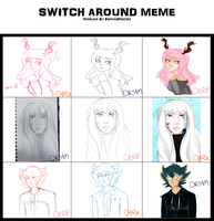 hella great switcharound meme with two great gals by officermargss