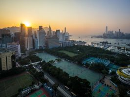 Causeway Bay Sunset by amipal