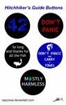 Hitchhiker's Guide buttons set by caycowa