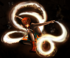 Dance of the Fire Poi by StringsOnABunny