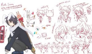 Momo Soramu Doodle Reference Sheet by ikeemen