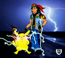 """Ash and Pikachu """"Victory Road"""" by gorillagraffix"""