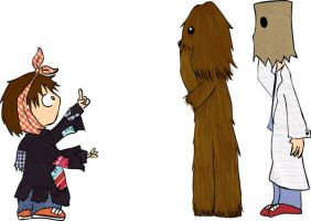 The Sith, the Wookiee, the Doc by whosname