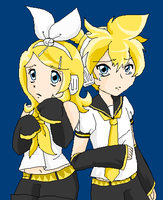 Sad Rin and Len by pinkkittypower