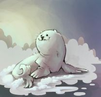 babby seal by CoconutMilkyway