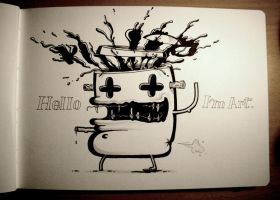 Hello Im Art by KIWIE-FAT-MONSTER