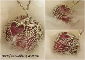 Heart of stone pendant by Antonymi1