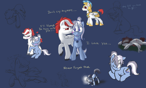 Skie and SapphireDawn Doodles by Tenchi-Outsuno