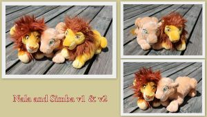 Nala and Simba v1 and v2 by Laurel-Lion