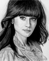 Zooey Deschanel by SophieReddyArt