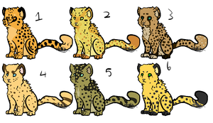 Cheetah Adopts -open- by HollowThinker