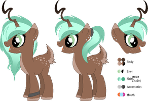 New adopted pony - Lilac Dreams - Ref sheet uvu by BR0KENP0NIES