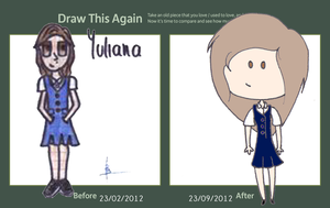 Draw this again meme: Yuliana by LunePotter