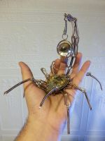Steampunk insect pocket watch holder by CatherinetteRings