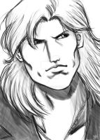 Liquid Snake Quick Sketch by Vladsnake