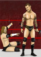 Randy Orton and Triple H by nimtaril