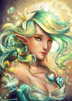 :: Rainbow Sea Elf :: by Sangrde