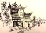 Chinatown -A Sharpie Sketch by lostmuseford