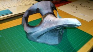 Malfatto Mask Progress II by wingedLizz