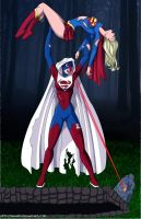 Superwoman vs Supergirl commis by mhunt