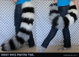 Gray Red Panda Tail by LobitaWorks