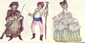 people from the French Revolution by NerinaSam
