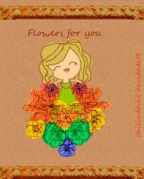 Flores para ti (: by chilindrini